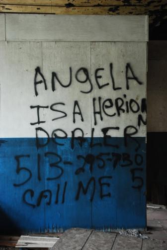 Grafitti on a wall in Gary, Ind. https://flic.kr/p/cCB26J Flickr user kymberlyanne