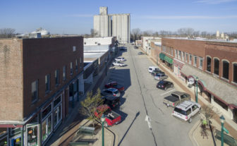 Aerial photo of downtown Tuscola on March 21, 2016. The town of more than 4,400 has an estimated unemployment rate of just over 5 percent, according to the Census Bureau.